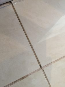 Tile joint issue seepage
