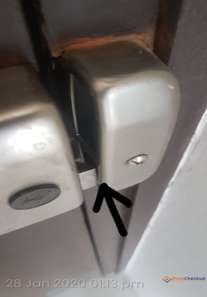 Issues found During Home Inspection –  damaged lock