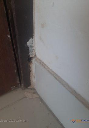 Issues found During Home Inspection –  unfinished work